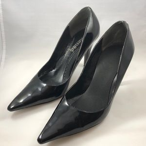 """3"""" spiked heel patent leather pump"""